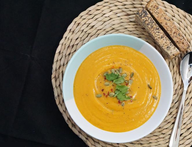Pumpkin soup final shot